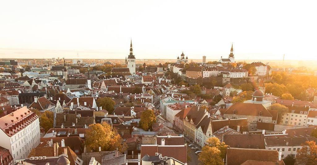 Old town Tallinn, Estonia, at sunset from the vantage point of the spire of St. Olaf's Church.  #tallinn #estonia #oldtown #panoramic #suns…<br>http://pic.twitter.com/JQBUbsWtHU