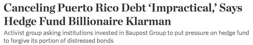 Alternate headline: Hedge Fund Billionaire Doesn't Want to Lose A Lot of Money https://t.co/79mXzRqAdU