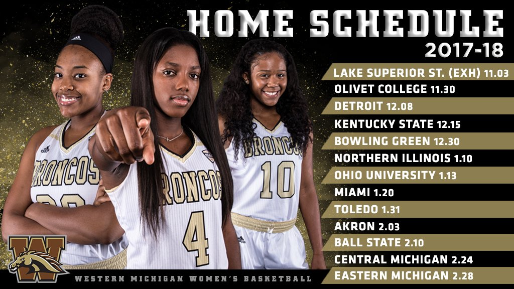 Wmu Women S Bball On Twitter Check Out The 2017 18 Home