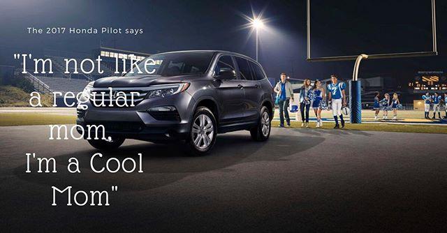 "2017 Honda Pilot making being the ""Cool Mom"" look easy. #hondavillage #honda #testdrive  http:// click.serpcom.com/Pwn0D3  &nbsp;  <br>http://pic.twitter.com/AzTVoZ5B0S"