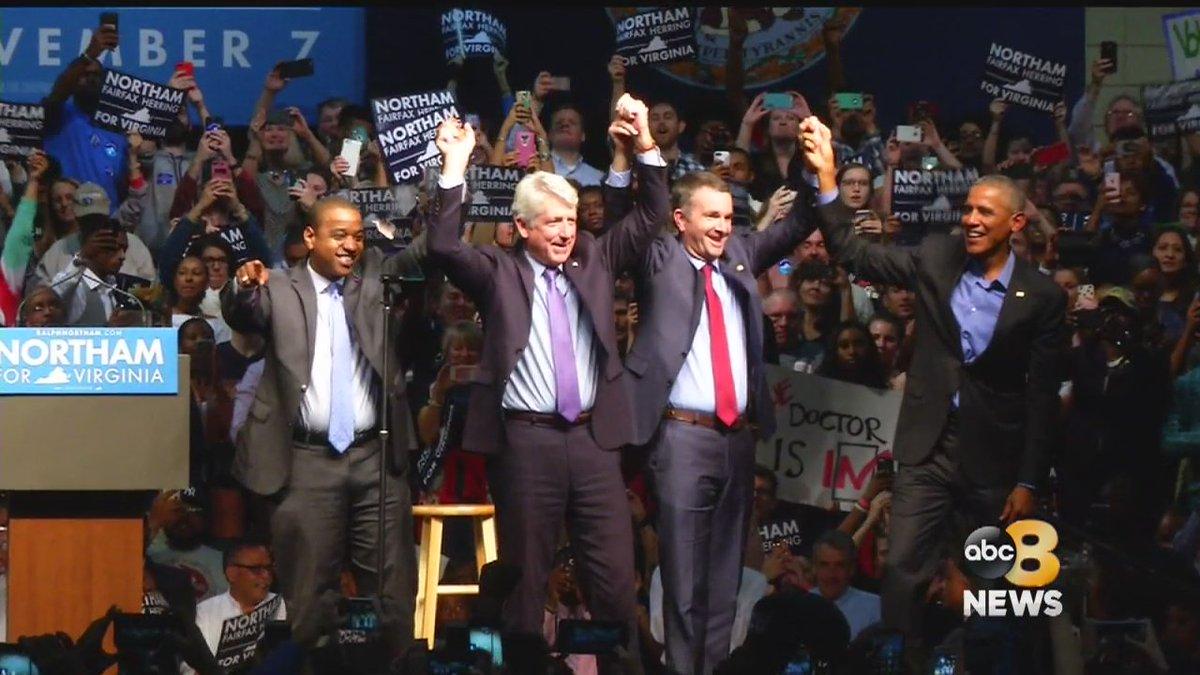 ICYMI: 7,500 people pack Richmond Convention Center to hear Obama stump for Northam https://t.co/MQDEzJpbVo