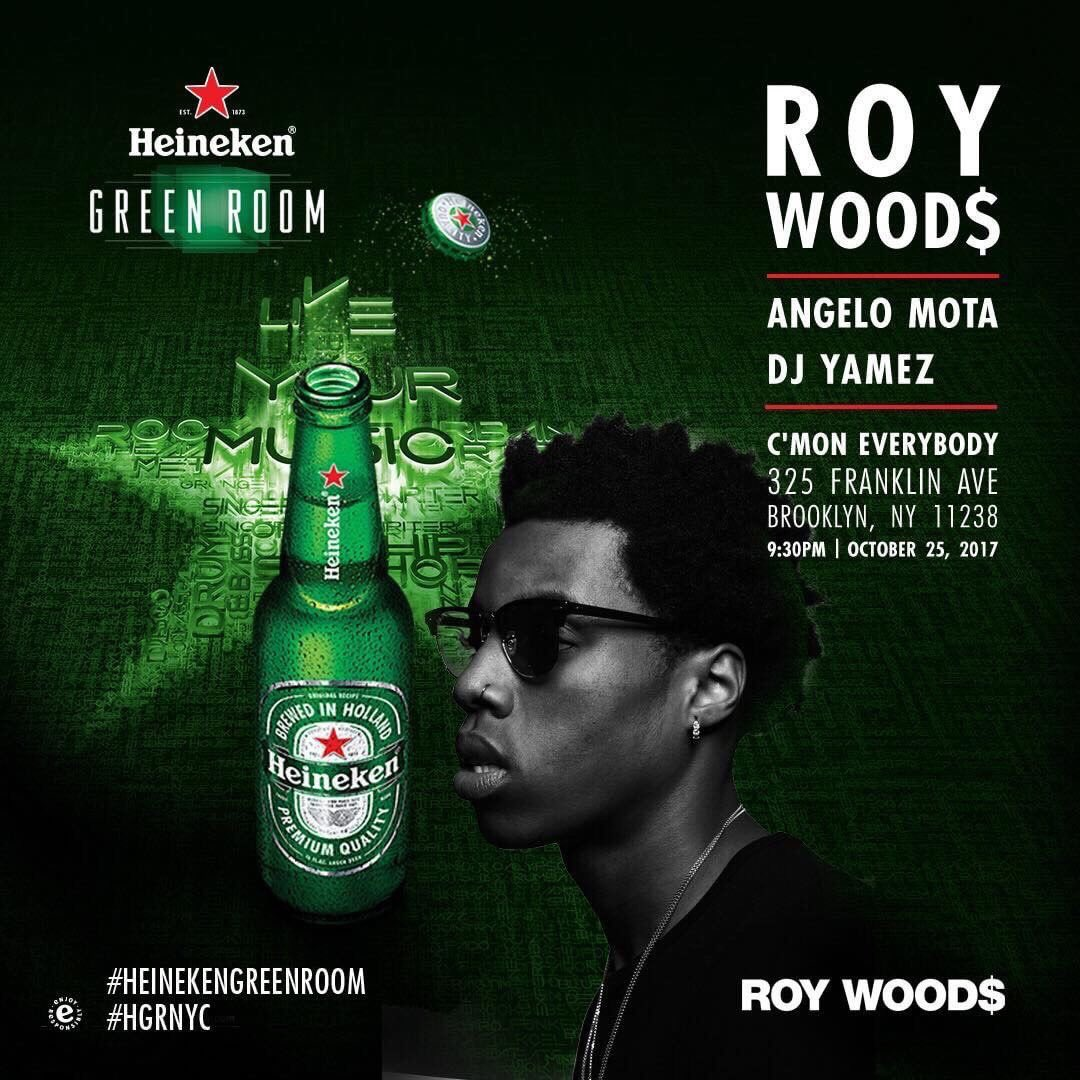 nyc, i'm doing a show with @RoyWoods on...