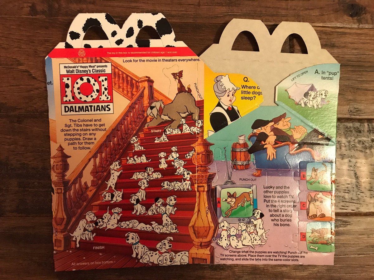 Turn Back The Clock Toys On Twitter 2 1990 Vintage McDonalds DMngUkZWkAAwIqh 921514269715369985 101 Dalmatians Bone Meal