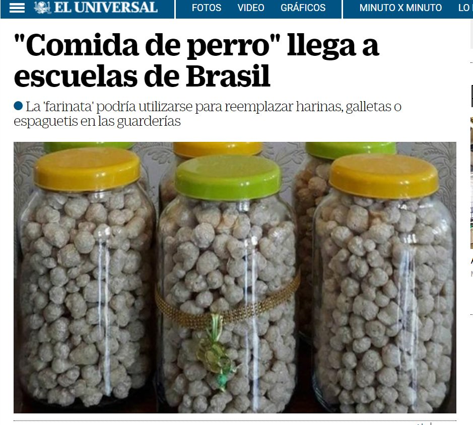 Mídia estrangeira chama farinata da prefeitura de SP de comida de cachorro https://t.co/6eTYK4W3Iv via @danielbuarque