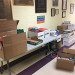 Covington community! We collected 23 boxes of donations for victims of Hurricane Maria. Lucky to be part of this all! Amazing #d123 #d123cov