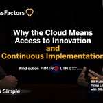The #cloud provides access to continuous innovation AND implementation. More from @BillKutik on the new Firing Line: https://t.co/3Liq2HVHSR