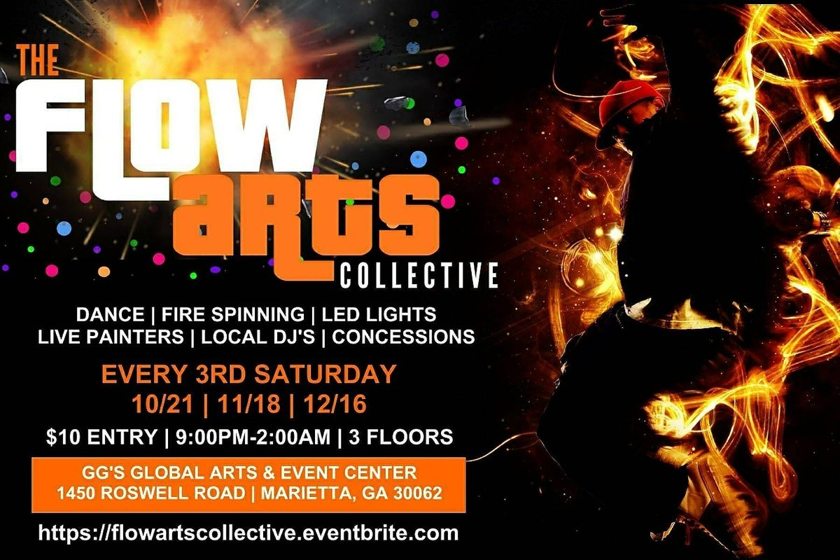 Are you ready? The Flow Arts Collective is TOMORROW! #itshappening@GG&#39;s #itshappening #firespinning #livetheexperience #flow #hulahooping<br>http://pic.twitter.com/LjCiicANvS
