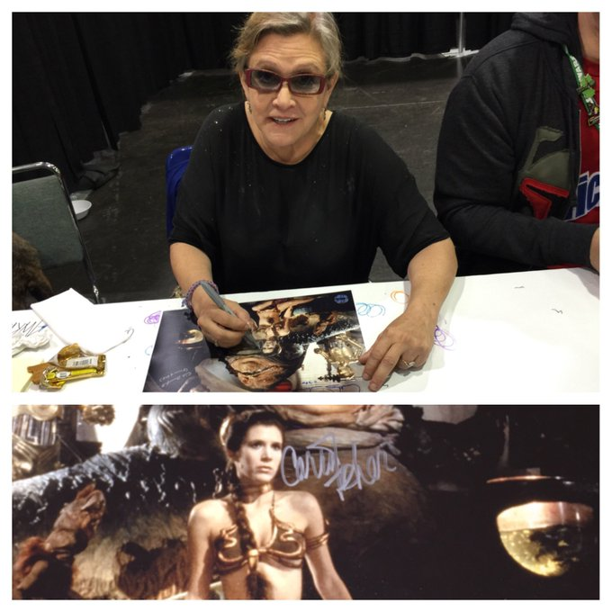 """Happy birthday to my boo Carrie Fisher... She called me \""""naughty\"""" when I met her"""