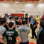 Thanks @OhioState_MVB Coach Pete Hanson for stopping by #FCVC 16U, 17U & 18U Boys practice. Learning from a #NCAAMVB legend. @ova_updates