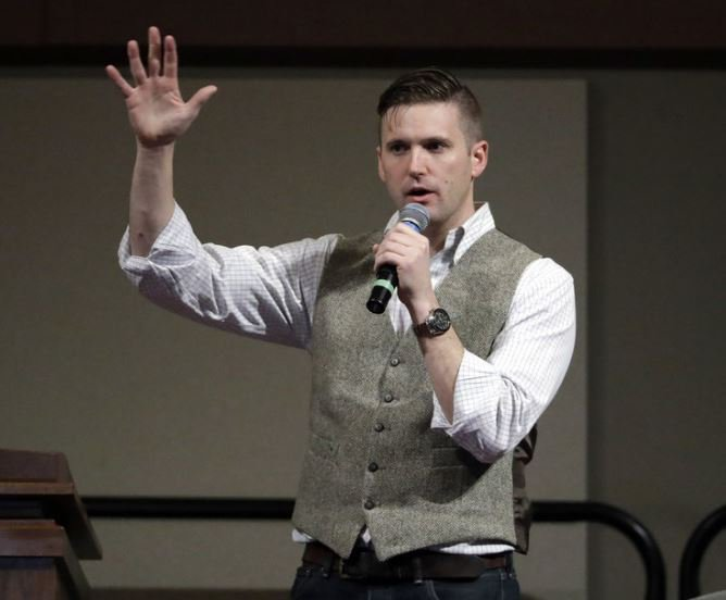 White nationalist, and so-called Alt-Right leader, undeterred by boos on latest college stop, heading to UC  https://t.co/uhPnT05yyS