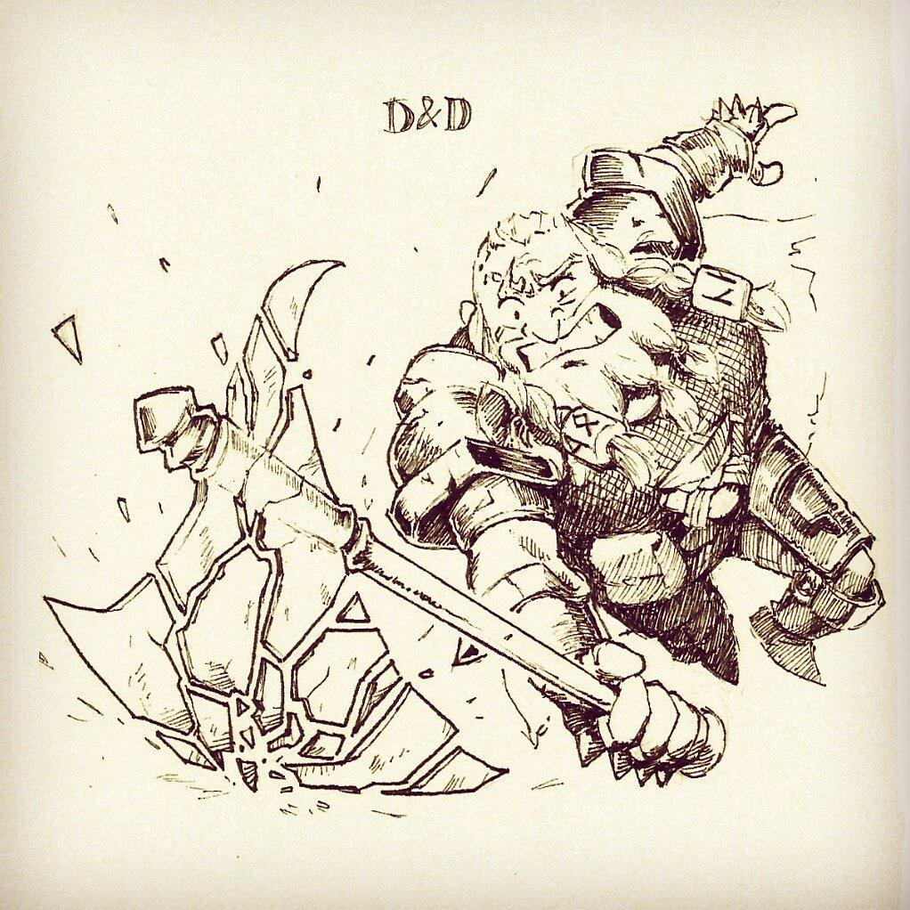 20. Dwarf Fighter  #inktober #inktober2017 #dnd  #dungeonsanddragons #dwarf #fighter #thorbir #criticalrole  @wilw<br>http://pic.twitter.com/dHJKT9WB9T