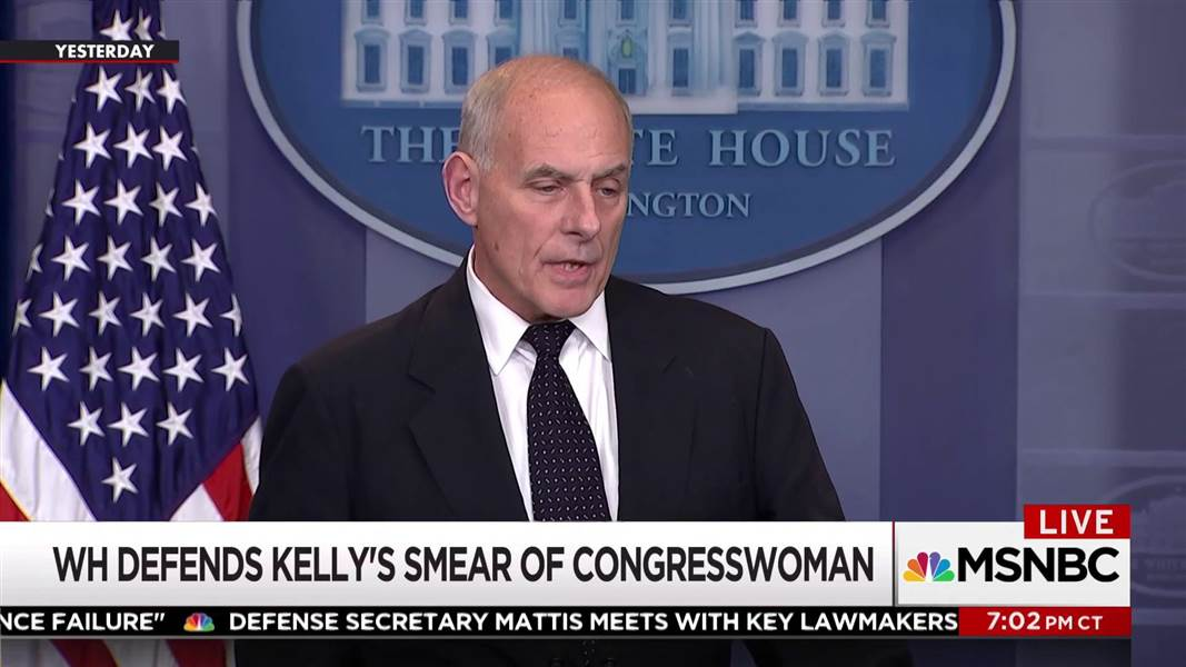 John Kelly's lie about Rep. Frederica Wilson https://t.co/X6Hn7RDWP8