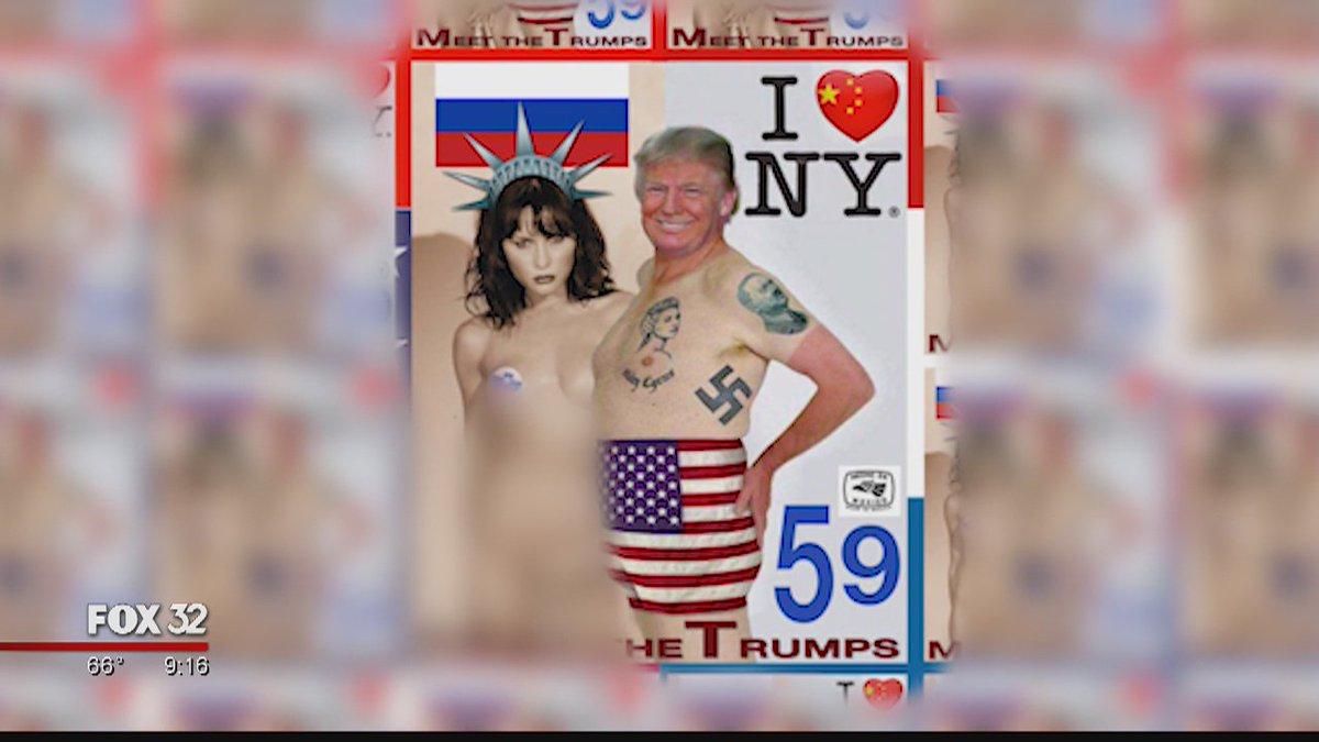 Chicago artist takes on Trump with 'stamp art' https://t.co/2jW5tDKz3W @LarryYellen reports @POTUS @realDonaldTrump