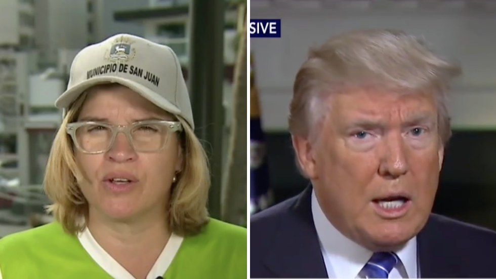 San Juan mayor on Trump  giving himself a 10 on Puerto Rico recovery: Maybe a 10 'out of 100' https://t.co/Q6TwCzDWEX