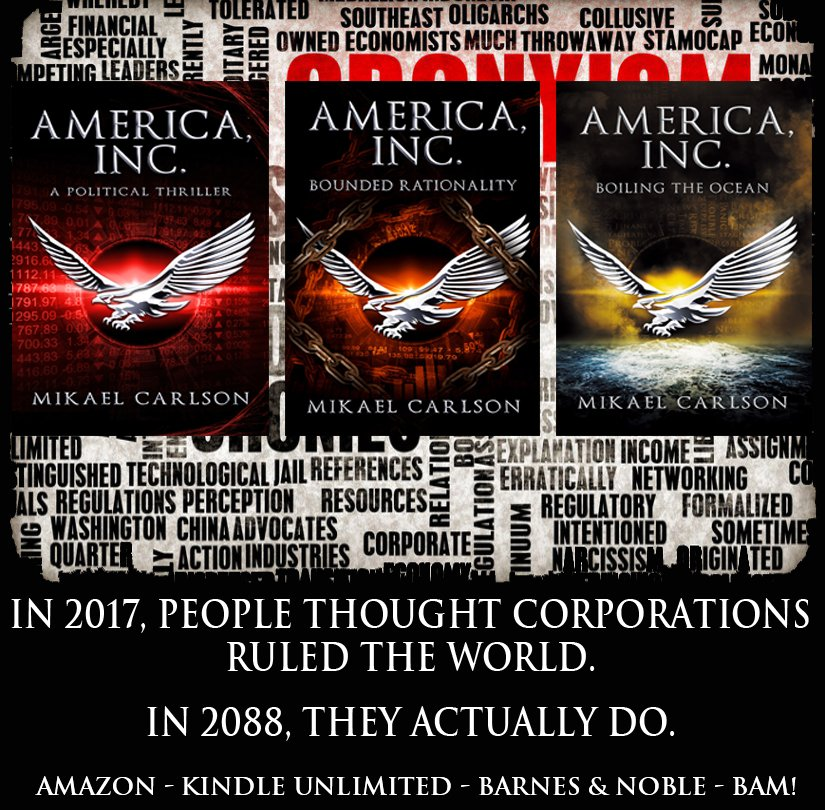 BEWARE THE RISE OF THE CORPORATE STATE!  http:// amzn.to/2ir0won  &nbsp;   #mustread  #writerslife #authorslife #reviews #fiction #IndieBooksBeSeen<br>http://pic.twitter.com/lw3yMQ1DAH