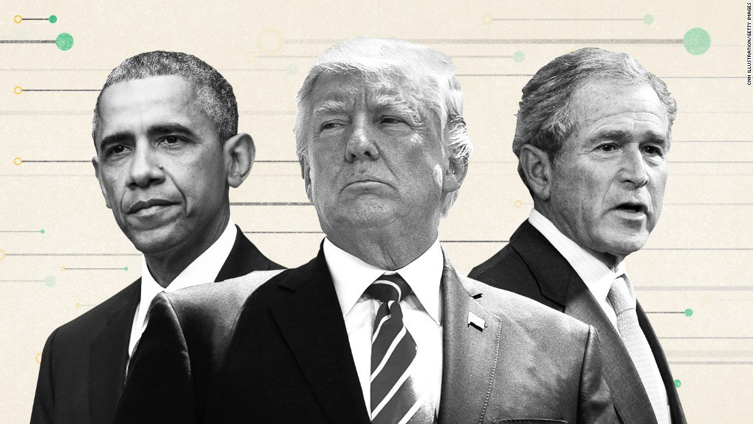 Former Presidents Bush and Obama's blasts will be water off President Trump's back https://t.co/UZKgeCCkUy via CNN's Stephen Collinson