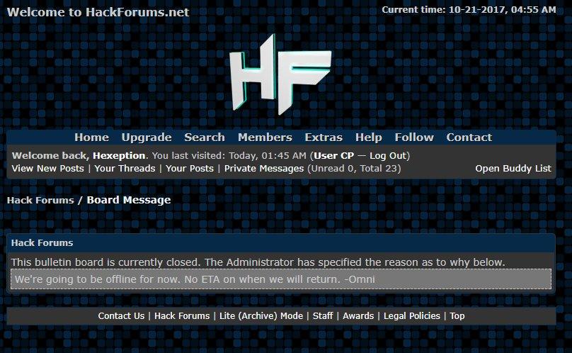 Hashtag #hackforums na Twitteru