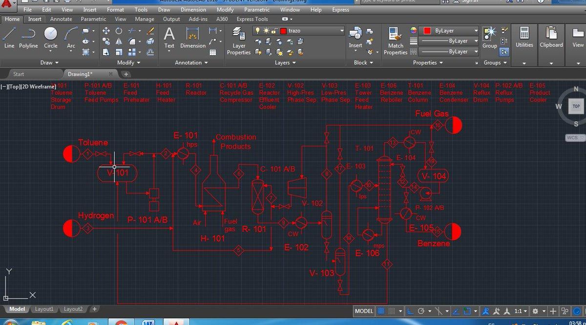 2017bedepqex22 Hashtag On Twitter Process Flow Diagram Pfd Diagrama De Flujo Skeleton For The Production Of Benzene Via Hydrodealkylation Toluene Pic