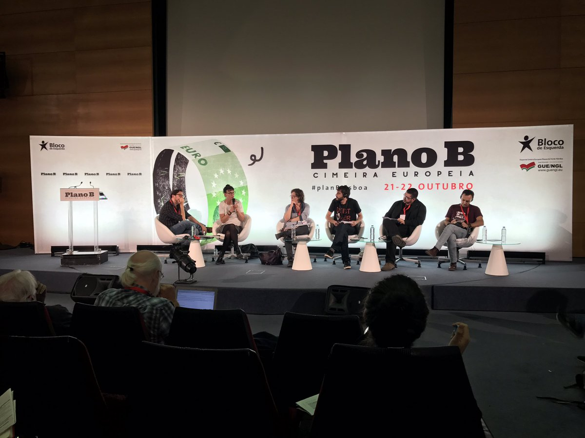 . @cmoreldarleux intervient au 1er débat du #PlanBLisboa sur les villes rebelles #franceinsoumise @LePG