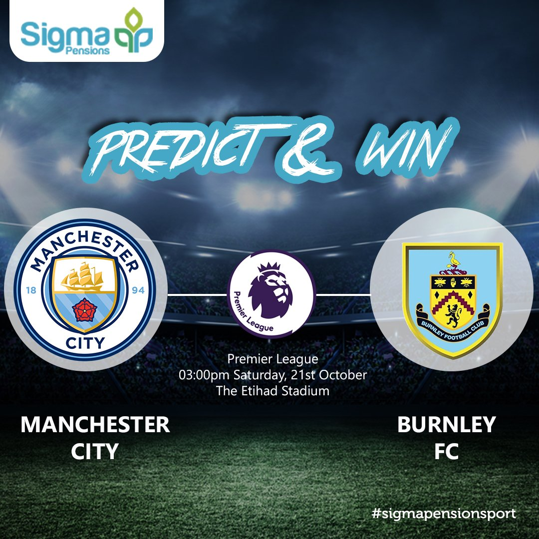 Stand a chance to win exciting prizes.  •Predict the scoreline •Follow our page, Retweet and tag a friend #Burnley #Mancity #EPL<br>http://pic.twitter.com/RVRSyJ6jQY