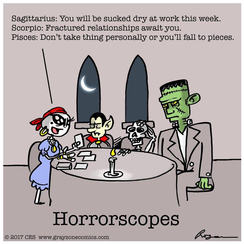 roger phillips on twitter astronomical astrology aliens halloween vampire skeleton frankenstein monsters horror horoscope astrology comics