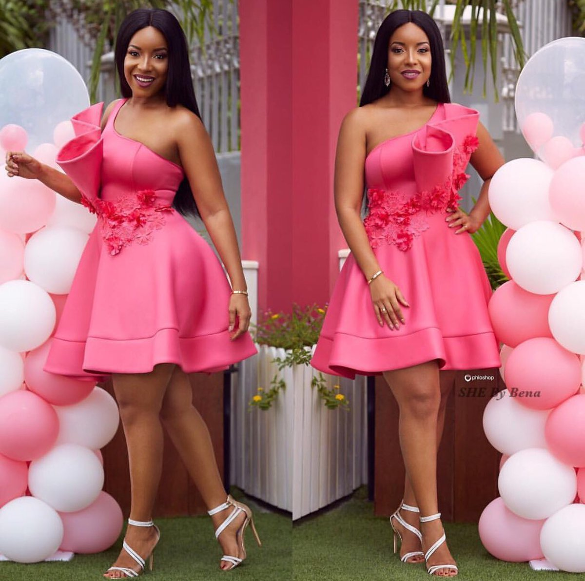 Joselyn Dumas stuns in pink