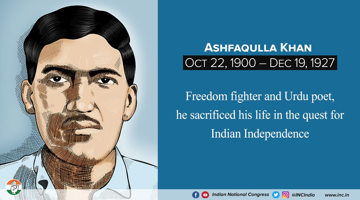 We pay tribute to Ashfaqulla Khan, one of the greatest martyrs who laid down his life for the emancipation of the country.