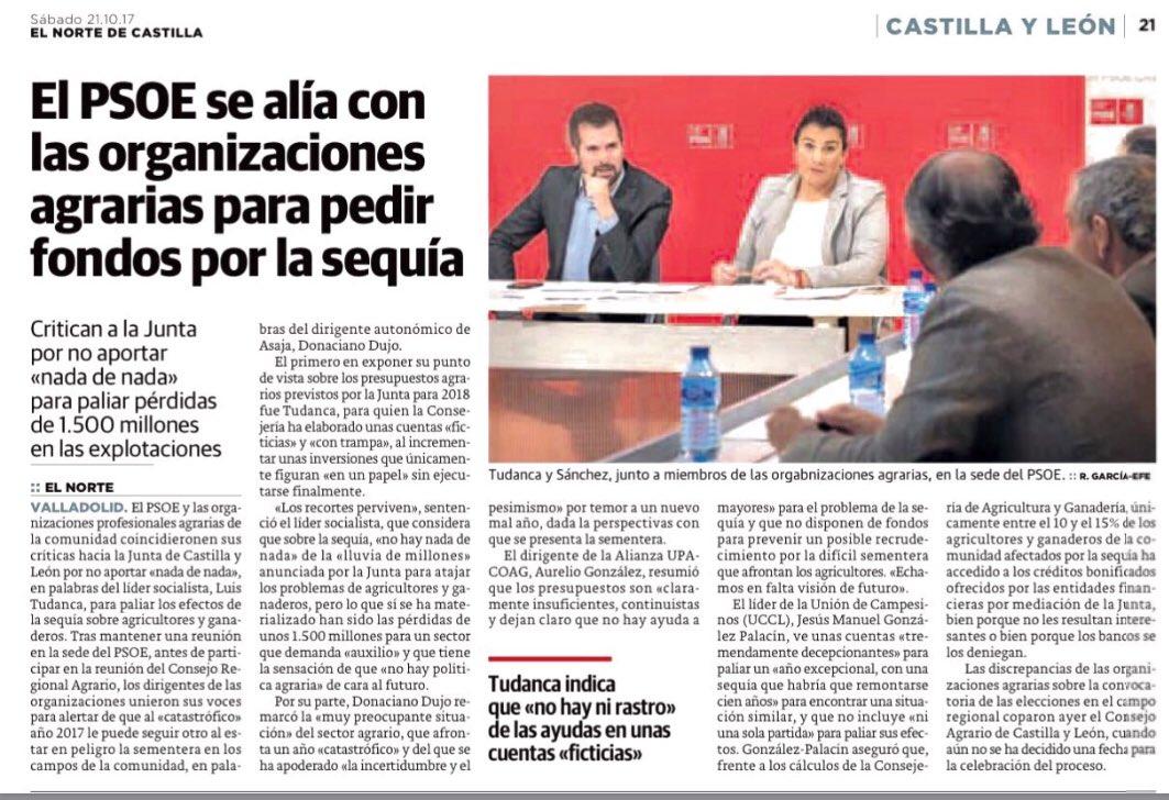 El @PSOE_CyL se alía con el campo para p...