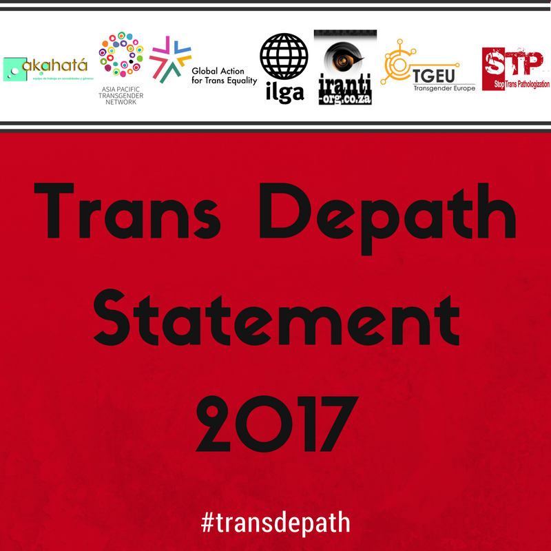 We call on our communities &amp; allies to work together against #trans stigma, discrimination &amp; violence #TransDepath  https:// wp.me/p8AH0y-po  &nbsp;  <br>http://pic.twitter.com/VtsajWUC86
