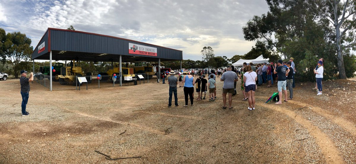 Congrats to #LakeKing on officially opening their #tractor #museum - @LakeGraceShire great turn out!!