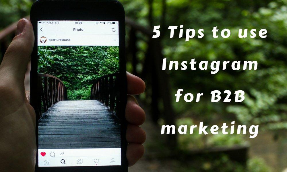 5 Tips To Use #Instagram For #B2B #Marketing  https:// buff.ly/2gTVFxJ  &nbsp;    #Contentmarketing #defstar5 #inboundmarketing #seo #makeyourownlane<br>http://pic.twitter.com/5hjeQfO6V8