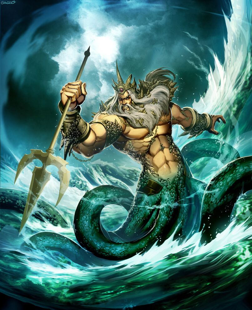 #POSEIDON is the #Olympian #god of the #sea, #earthquakes, #floods, #drought &amp; #horses. He is depicted as a man  holding a #trident<br>http://pic.twitter.com/aD5Fx0OCnr