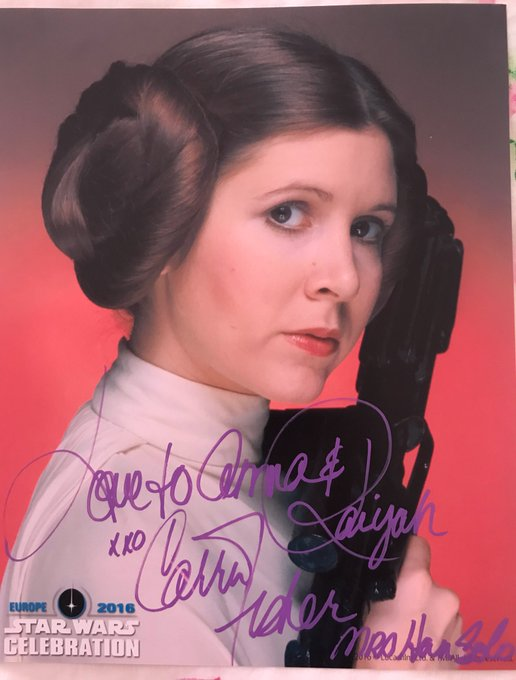 Happy birthday Carrie Fisher. So lucky to have met you