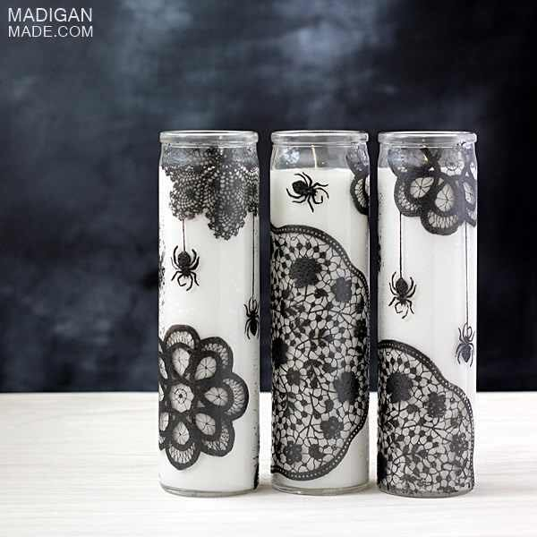 3. Wicked Painted Candles  #Crafturday #DIY #HowTo #diyprojects #DIYcrafts #inspiration #crafting #project #Halloween<br>http://pic.twitter.com/73WEnl1hsD