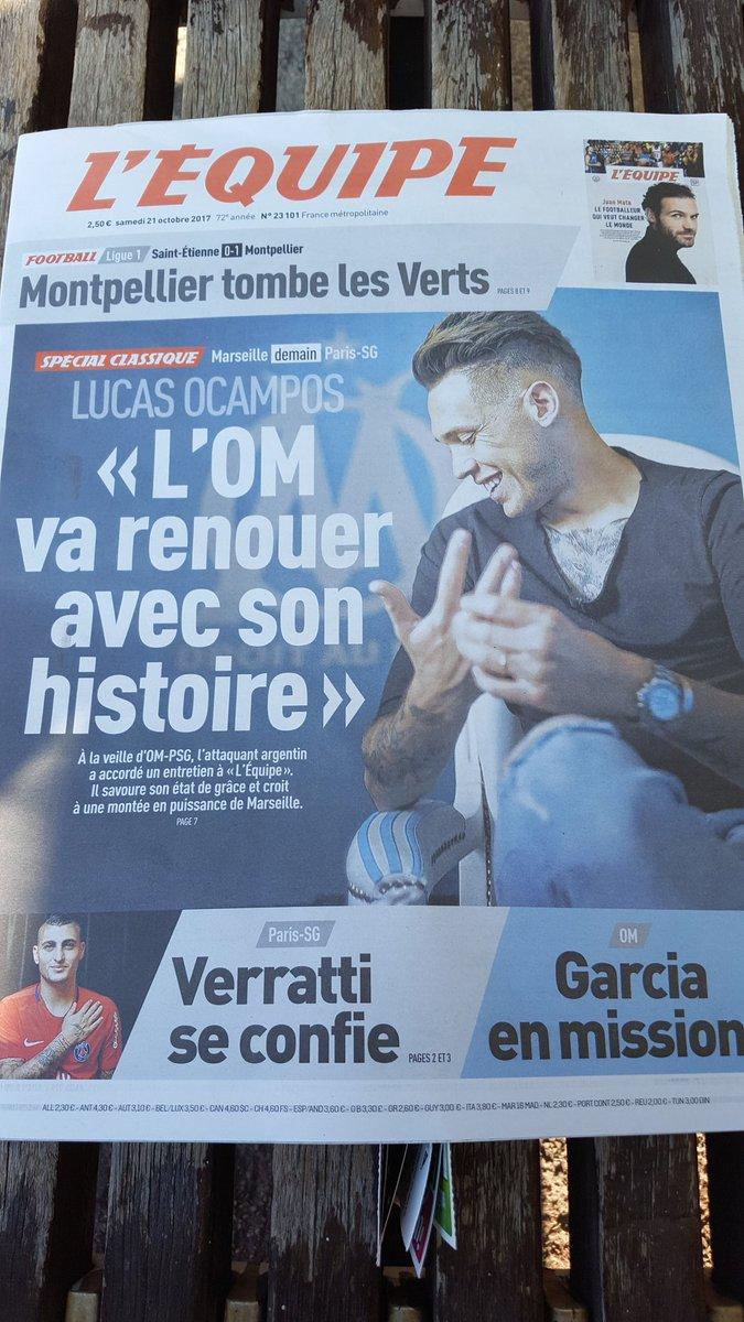 "#Ocampos : ""L'#OM va renouer avec son histoire"" à lire dans @lequipe ! #OM #TeamOMpic.twitter.com/NCve02vtSv"