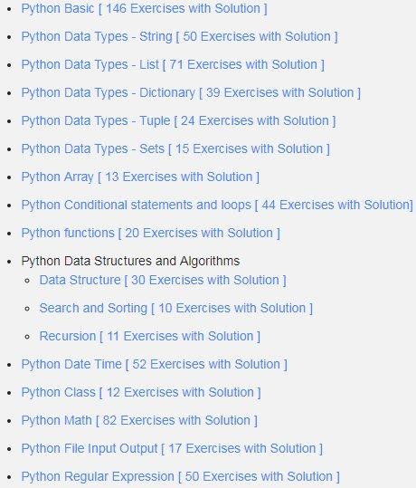 python programming exercises