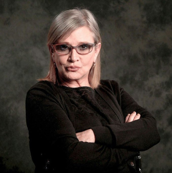 Happy birthday carrie fisher, I hope you are doing what you do best xoxo