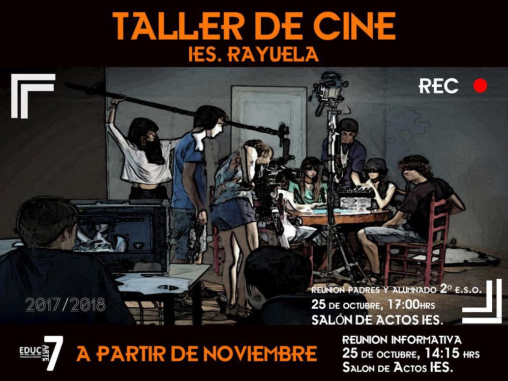 Cartel Taller de Cine AMPA IES Rayuela