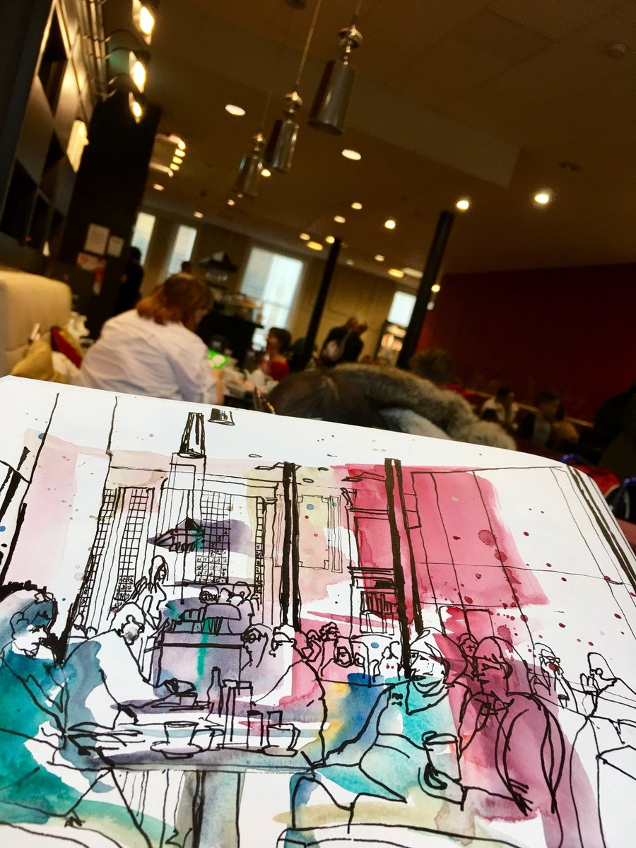 In @WaterstonesMCR as you do- #sketching #senseofplace<br>http://pic.twitter.com/AWQC6xERsa