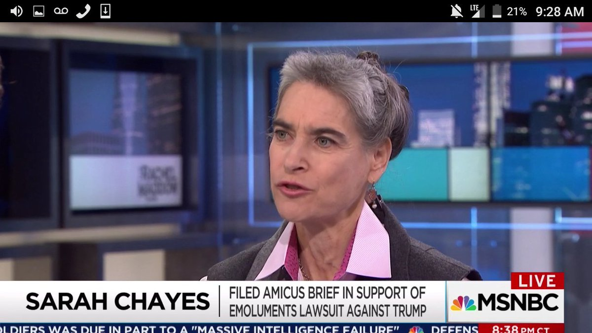 GREAT.@maddow segment on how #Trump&#39;s VIOLATIONS of #EmolumentsClause invites GOVT CORRUPTION #TheResistance #CNN #MSNBC<br>http://pic.twitter.com/z0HShKYLGk