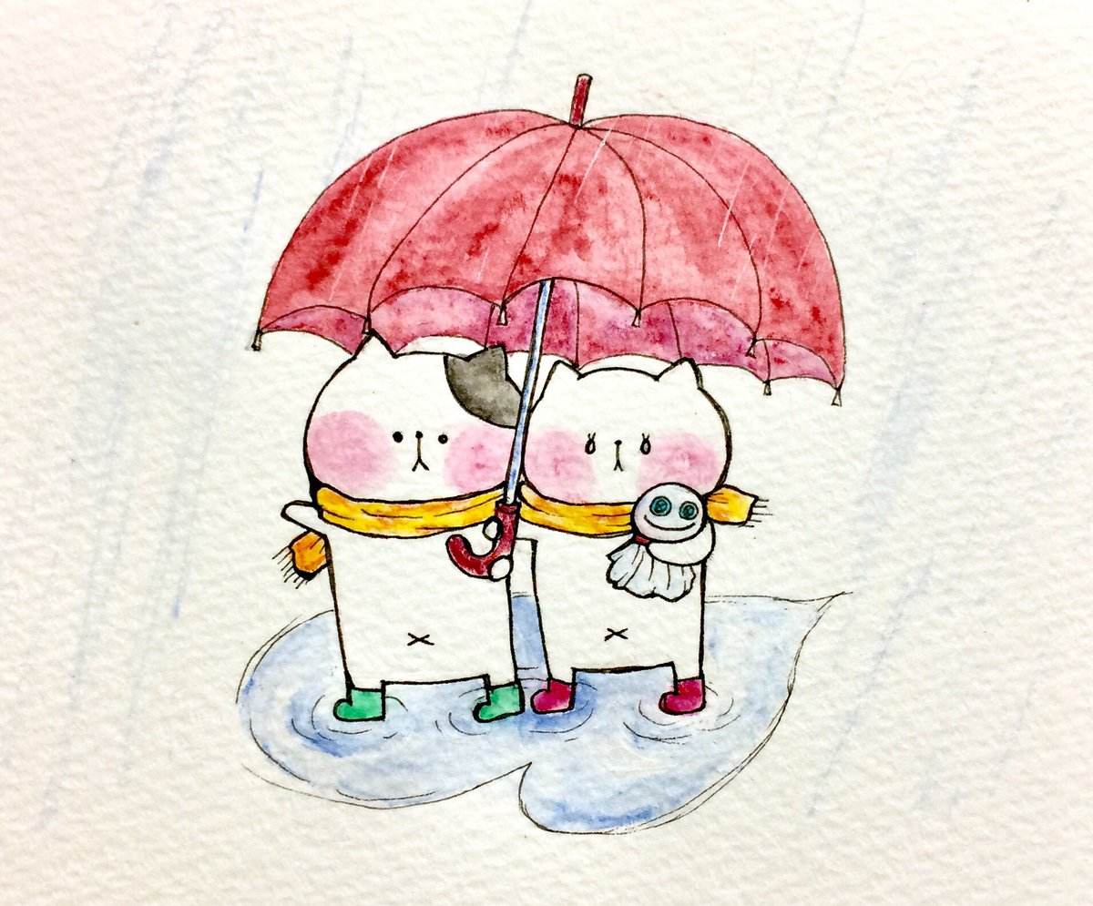 """おこにゃん on twitter: """"寒くても台風でも2人で入ればあったかい"""