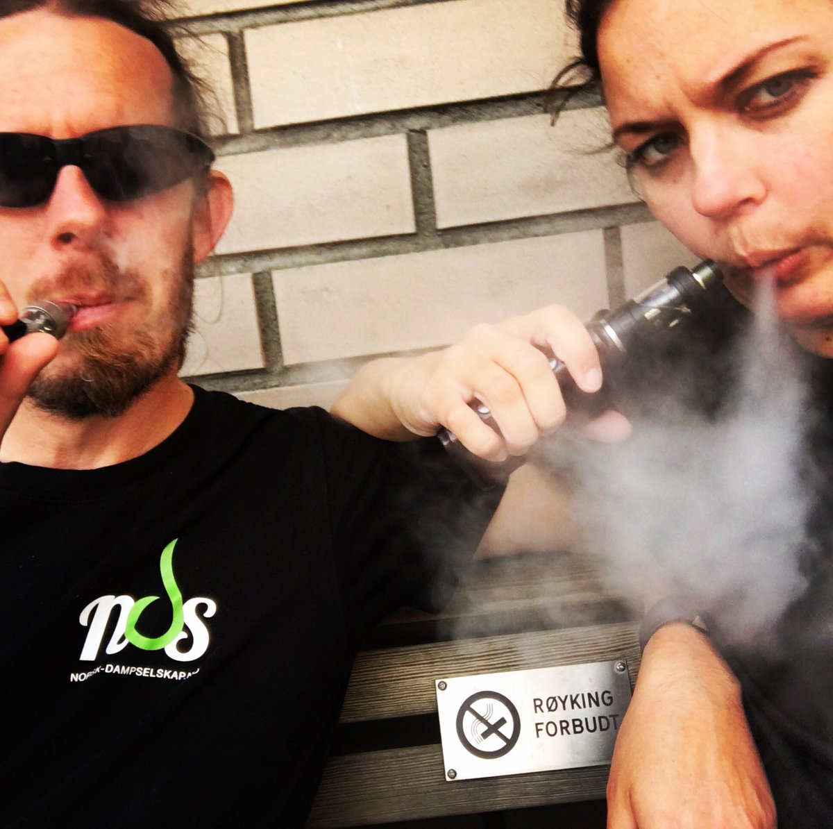 This is now illegal. New laws in Norway that put #vaping in the same box as #smoking is based on #prejudices instead of #knowledge. <br>http://pic.twitter.com/aFzpMnXPfh