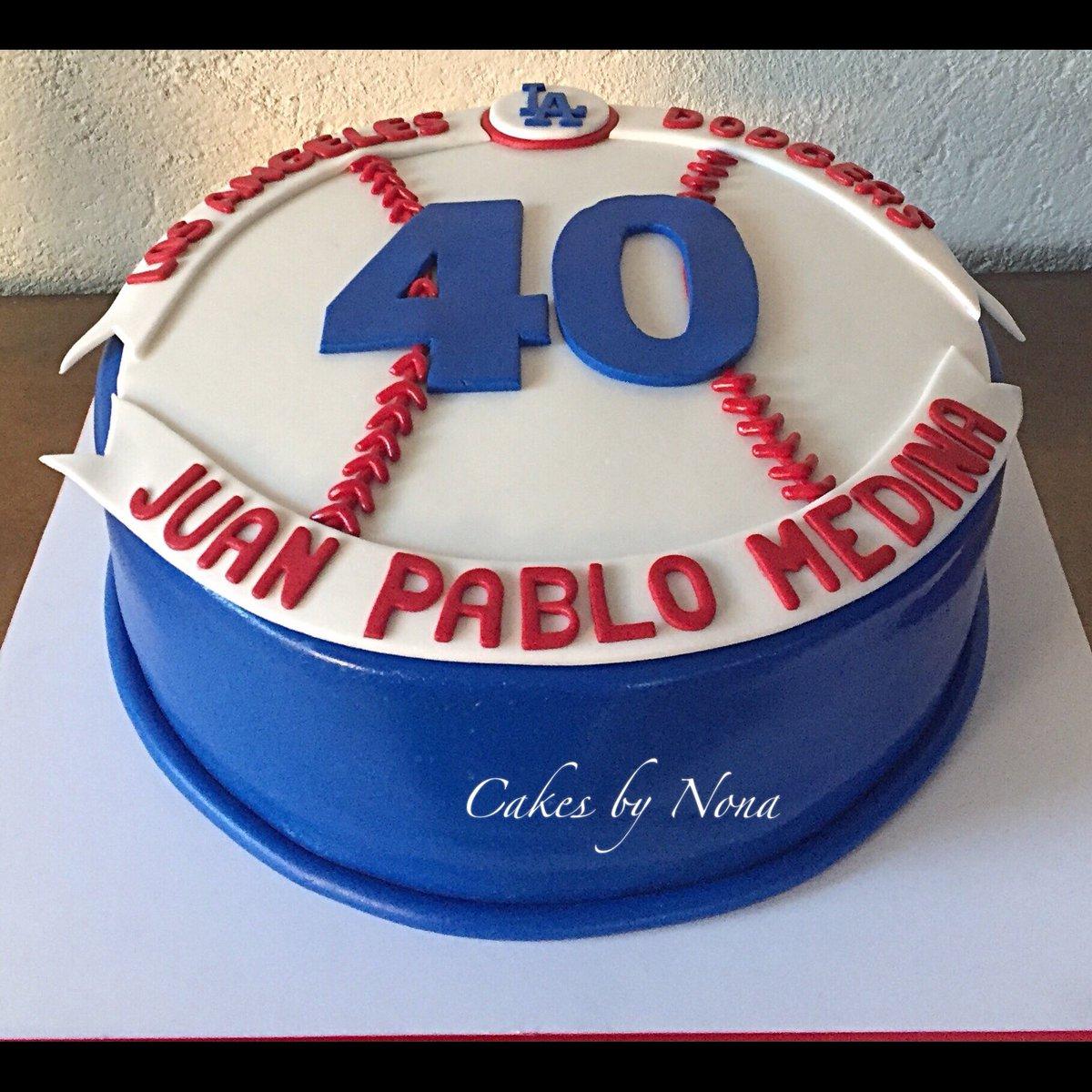 Remarkable Cakesbynona On Twitter Dodgers Baseball Fan Cake Dodgers Funny Birthday Cards Online Benoljebrpdamsfinfo