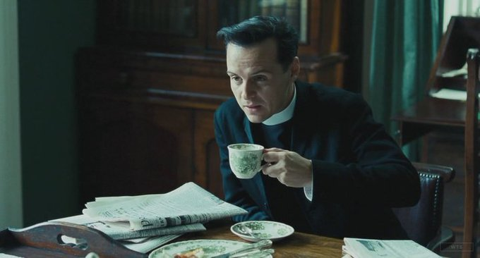 New happy birthday shot What movie is it? 5 min to answer! (5 points) [Andrew Scott, 41]