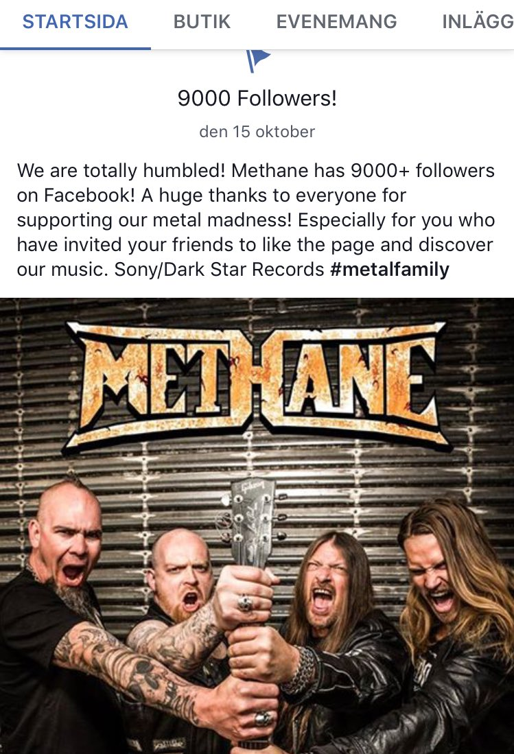 Are you following METHANE On Facebook? News photos reviews and tour dates. #sony #darkstar #thrashmetal<br>http://pic.twitter.com/vR1TV4pGl1