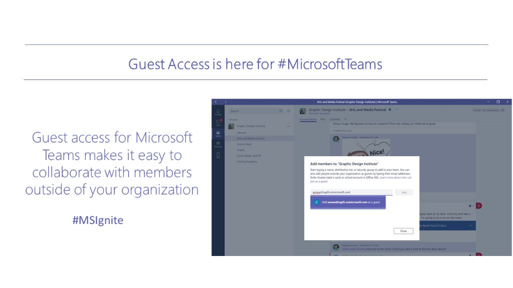 Learn how to add guests to #MicrosoftTeams:  http:// msft.social/GHR2AO  &nbsp;   via @MicrosoftTeams | #edtech #MicrosoftEDU #elearning <br>http://pic.twitter.com/1saZEatHHx