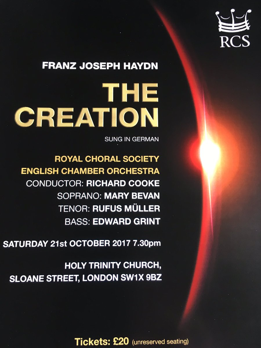 #creation in emojis: (). #haydn tells it better through music! Come and hear it tonight @SloaneChurch: tkts £20<br>http://pic.twitter.com/D7wYNFYZXN