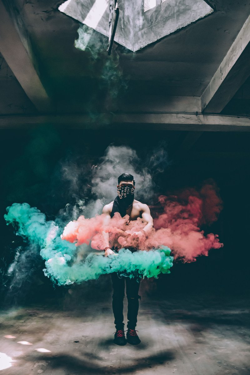 Image by louis amal Android-&gt; https:// goo.gl/vpbDEU  &nbsp;   iPhone-&gt; https:// goo.gl/SG5nxJ  &nbsp;   #colorsmoke #smoke #man #red #wallpapers #HDWallpapers<br>http://pic.twitter.com/IitFZcdj5T