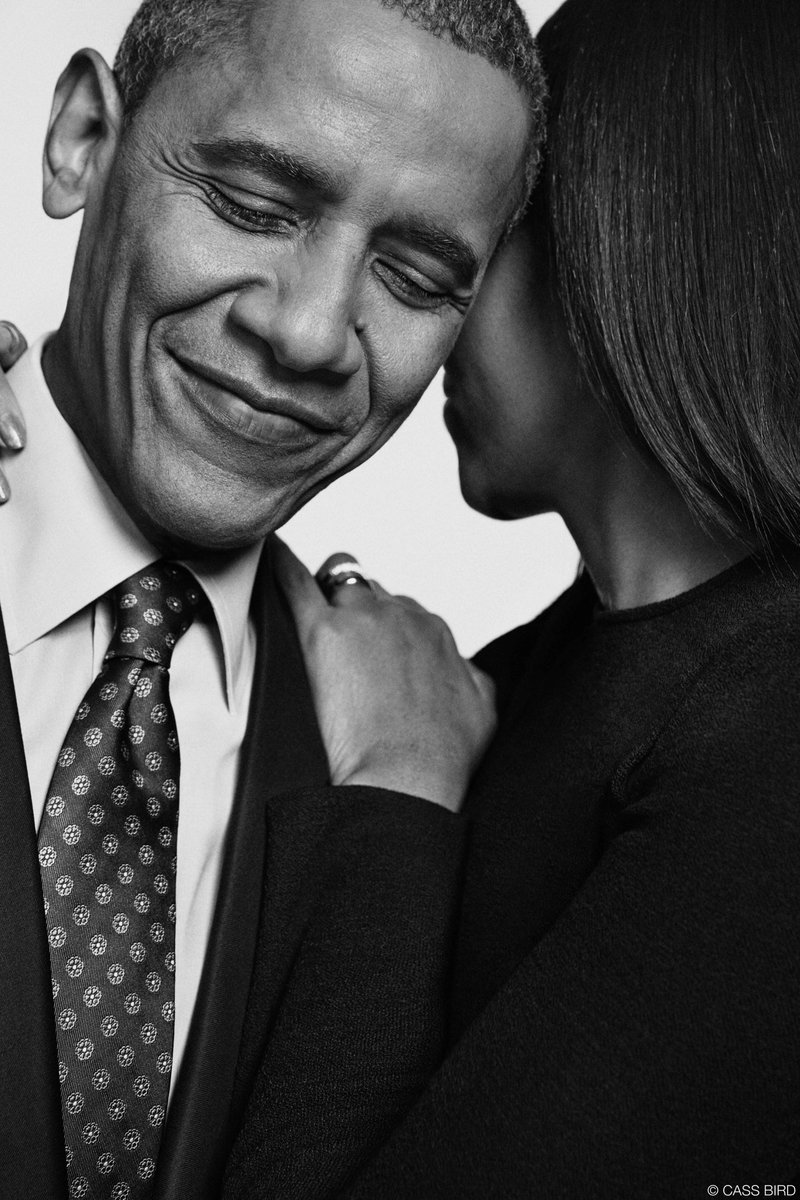 Barack and Michelle Obama photographed by Cass Bird #portrait #blackandwhite #framing #mood #expression #inspiration<br>http://pic.twitter.com/6LbEfkgaJv