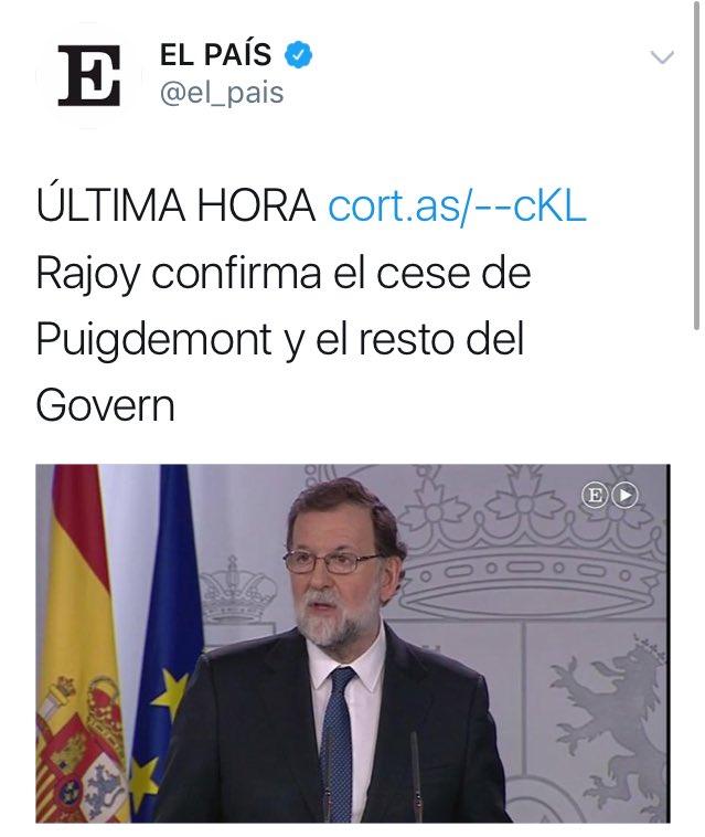 El Gobierno español cesa un Gobierno ele...